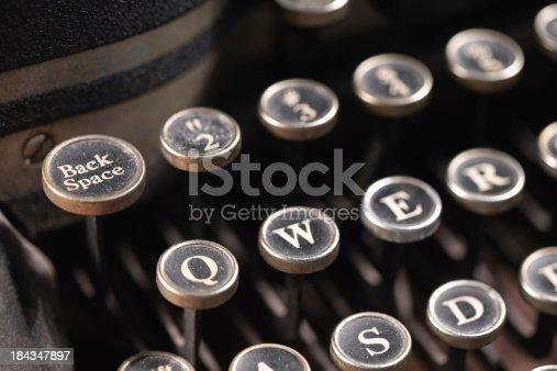 istock Typewriter Back Space 184347897