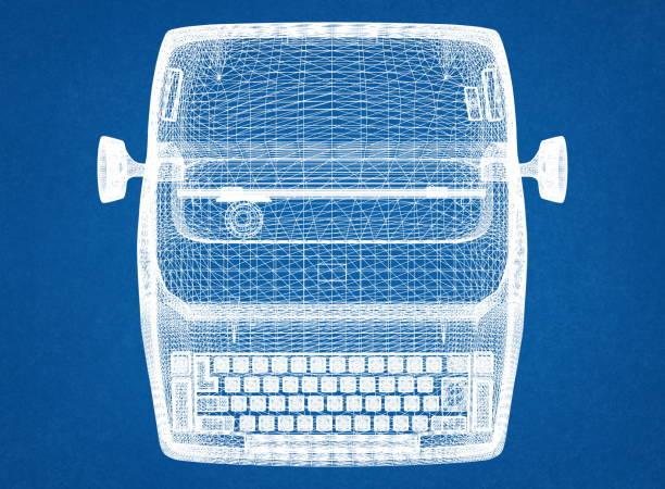 Schreibmaschinen-Blaupause – Foto