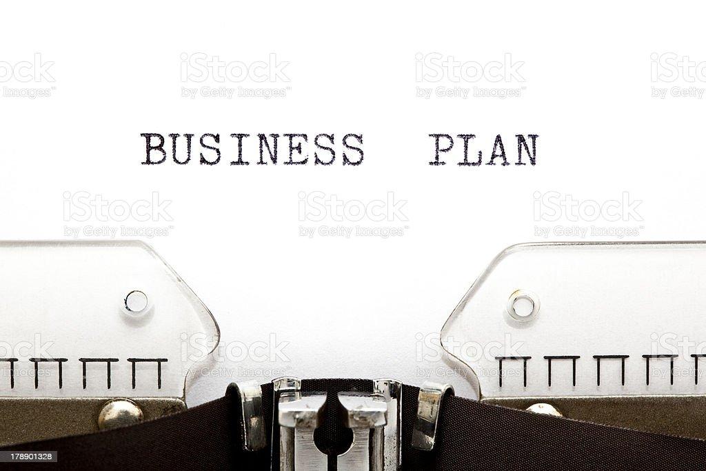 Typewriter Business Plan royalty-free stock photo