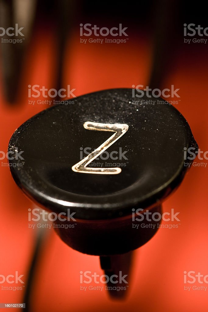 typewriter button Z royalty-free stock photo