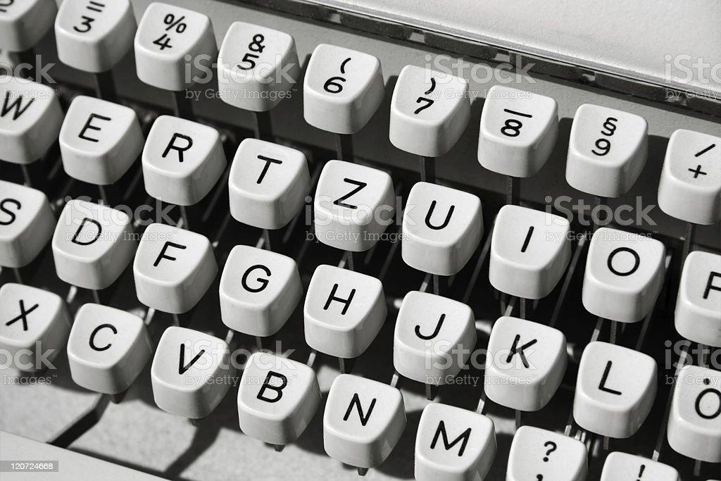 Typewriter, close-up royalty-free stock photo