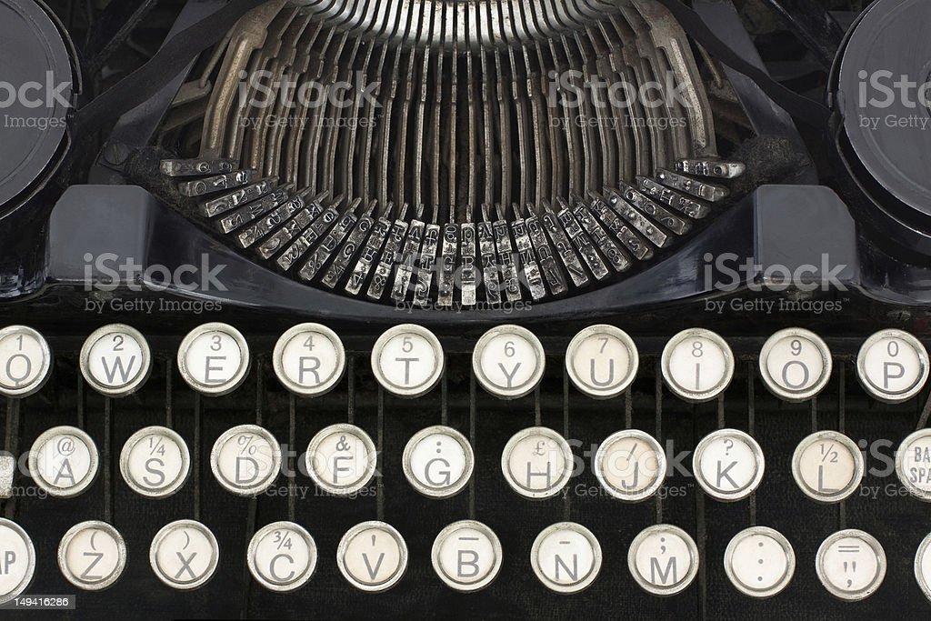 Typewriter close-up royalty-free stock photo
