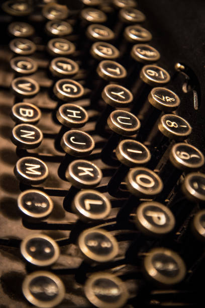 Typewriter Close-up stock photo