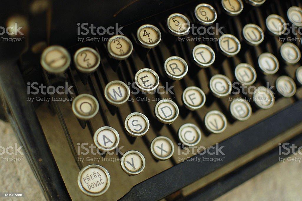 Typewriter detail royalty-free stock photo