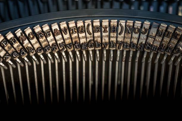 Typewriter Detail stock photo