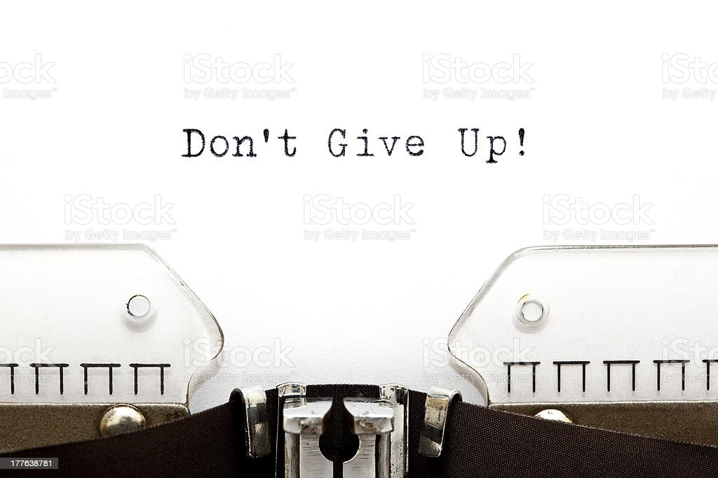 Typewriter Do Not Give Up royalty-free stock photo