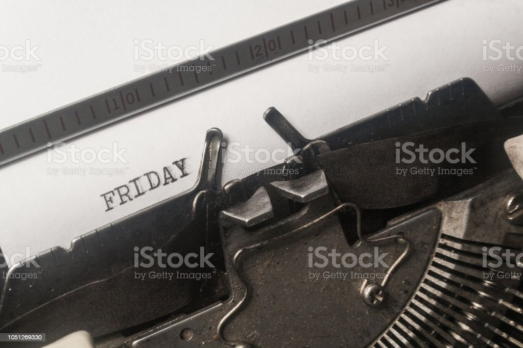 Typewriter Font Friday Stock Photo - Download Image Now - iStock