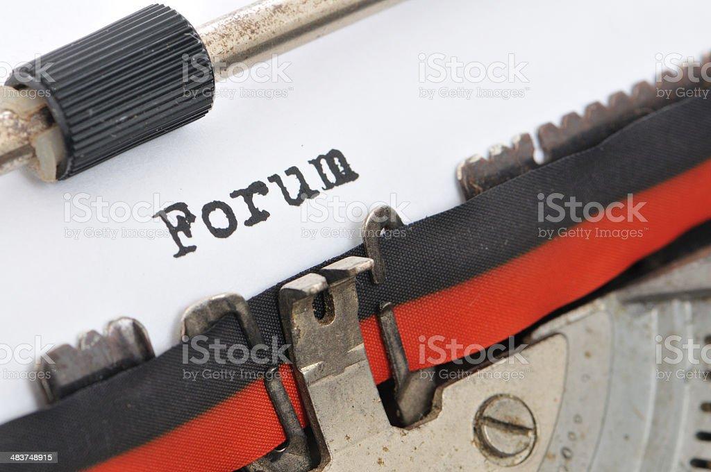 Typewriter - Forum royalty-free stock photo