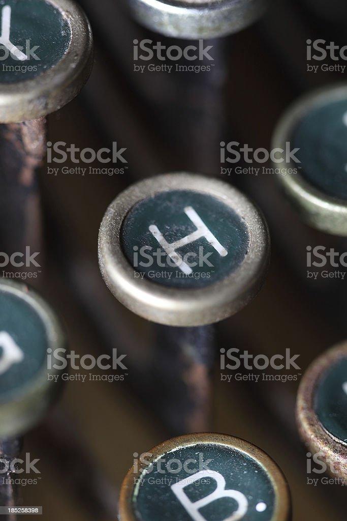 Typewriter H key royalty-free stock photo