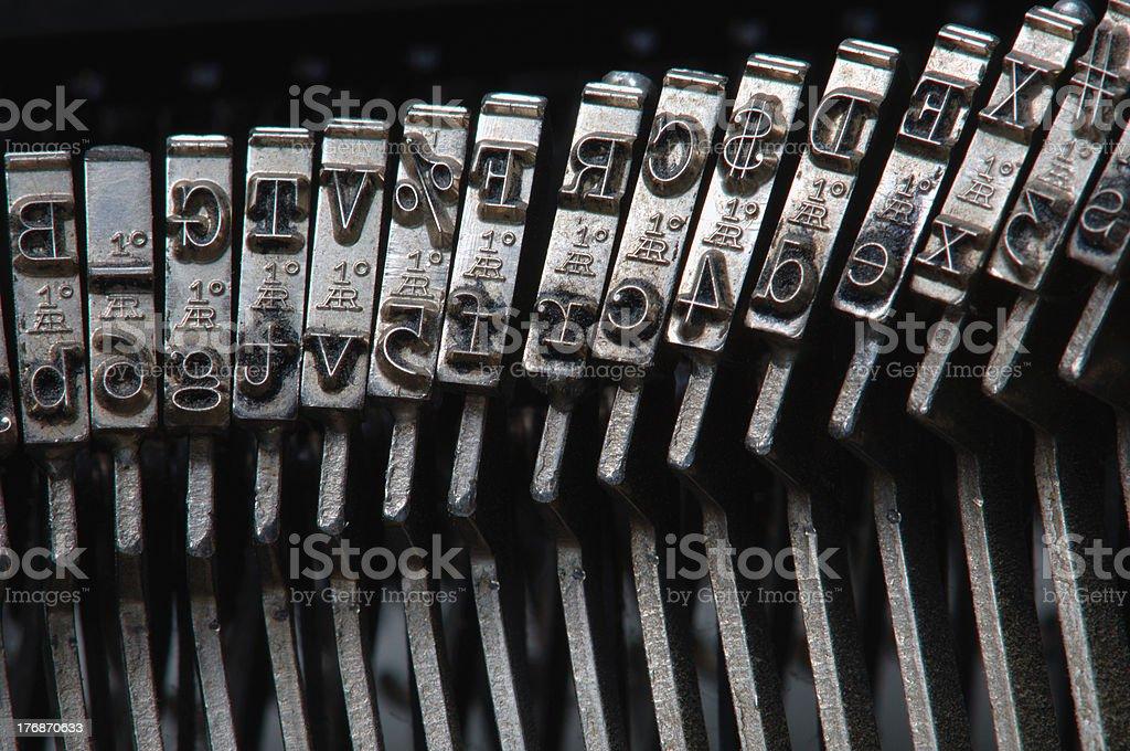 Typewriter hammers royalty-free stock photo