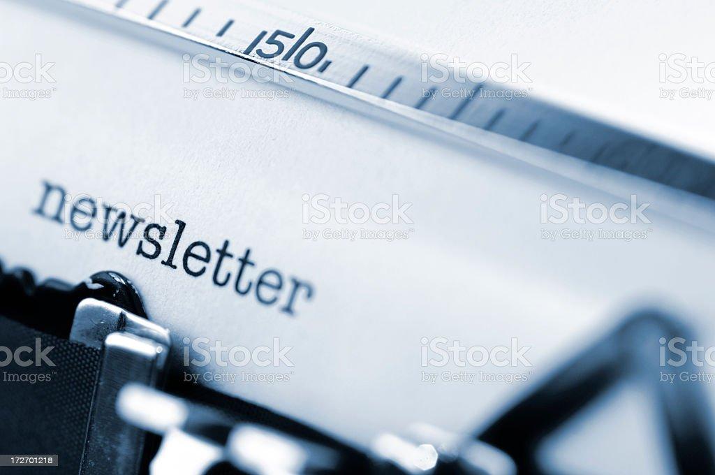 Typewriter Head Close Up royalty-free stock photo