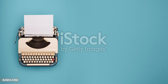 Typewriter header image with copy space