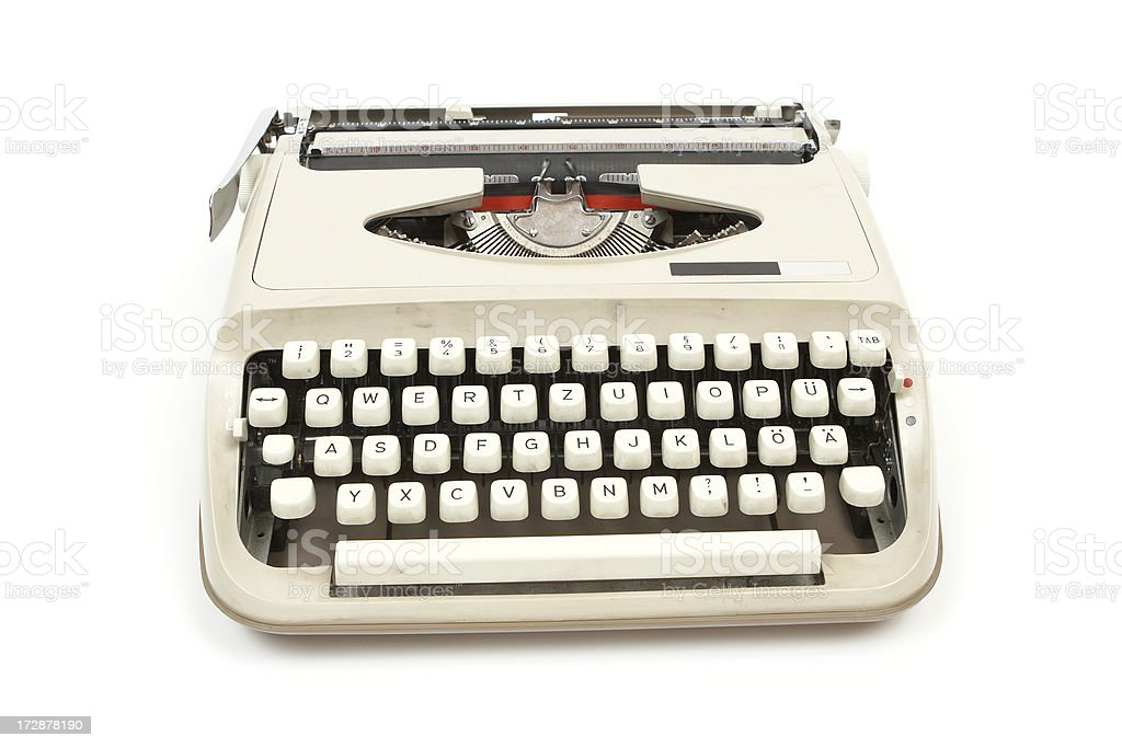 Typewriter isolated on white background. royalty-free stock photo
