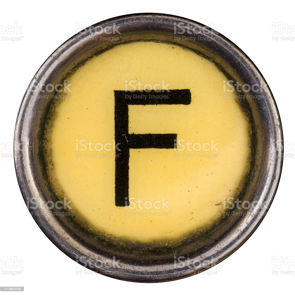 Typewriter Key F royalty-free stock photo