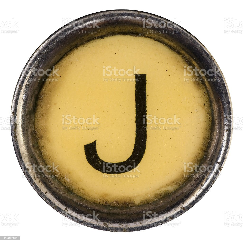 Typewriter key J royalty-free stock photo