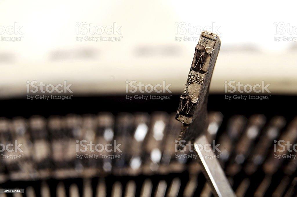 typewriter key stock photo