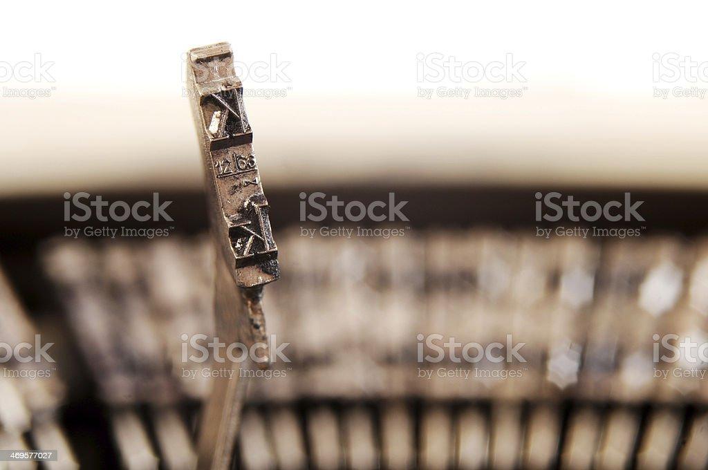 Typewriter key royalty-free stock photo