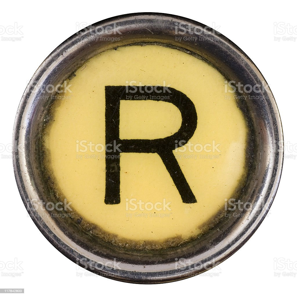 Typewriter Key R stock photo