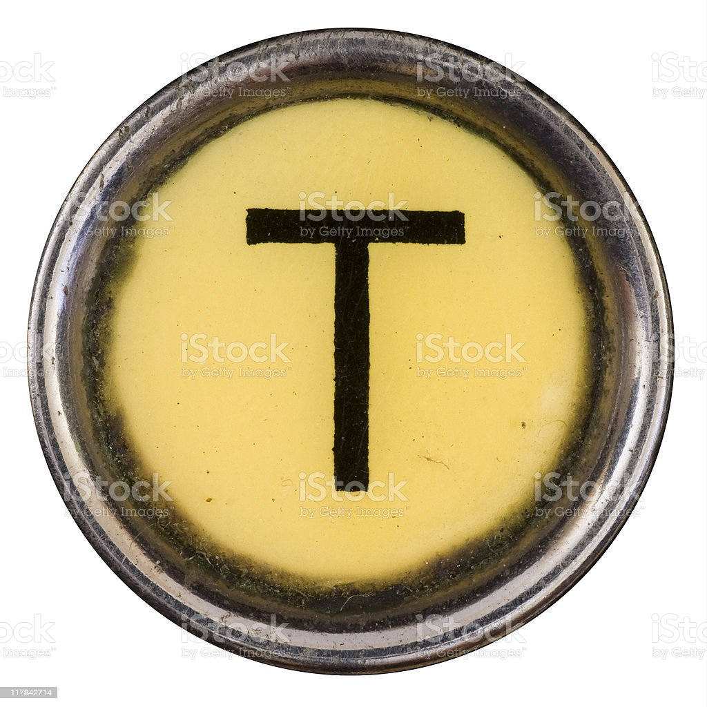 Typewriter Key T royalty-free stock photo