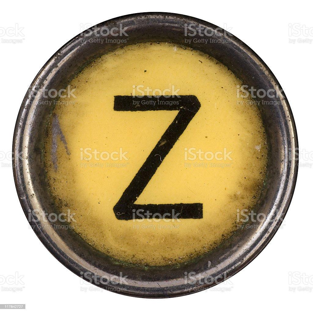 Typewriter Key Z royalty-free stock photo