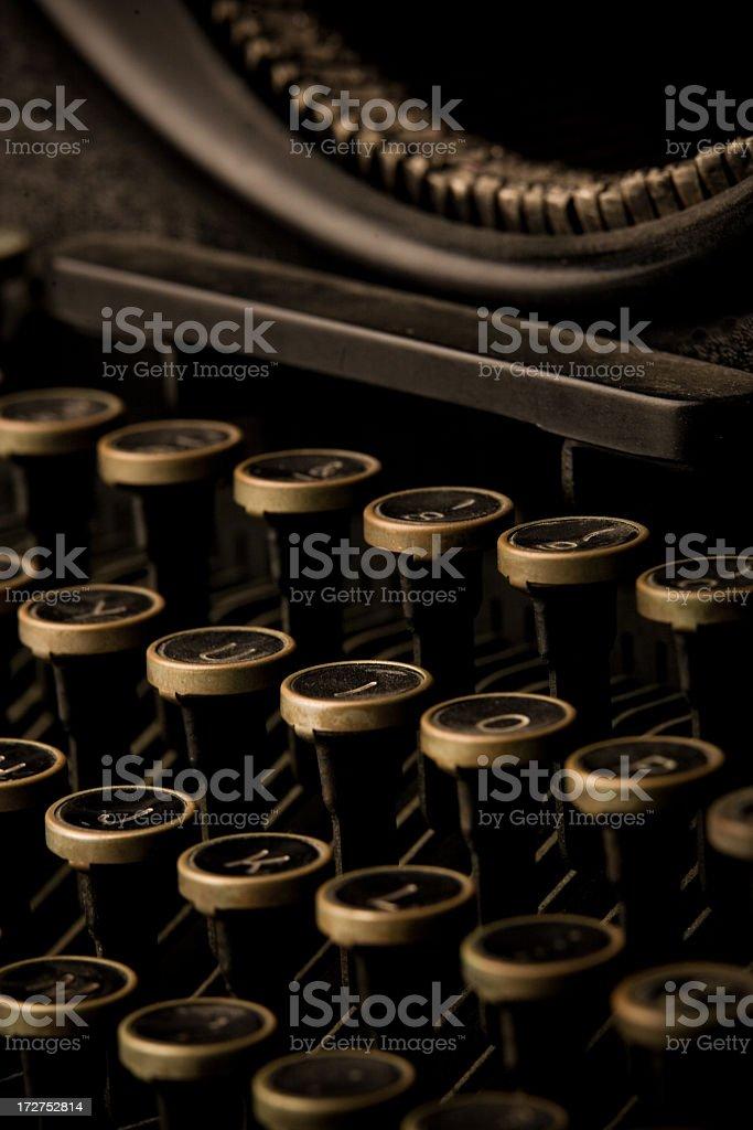 Typewriter Keyboard Macro royalty-free stock photo