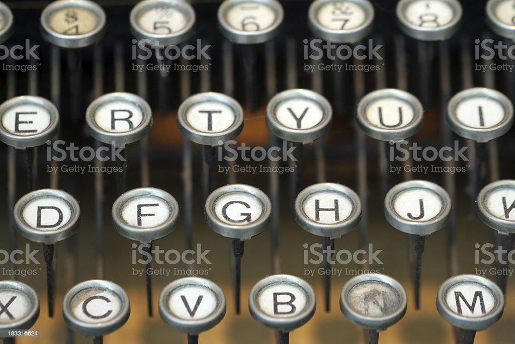Typewriter Keyboard royalty-free stock photo