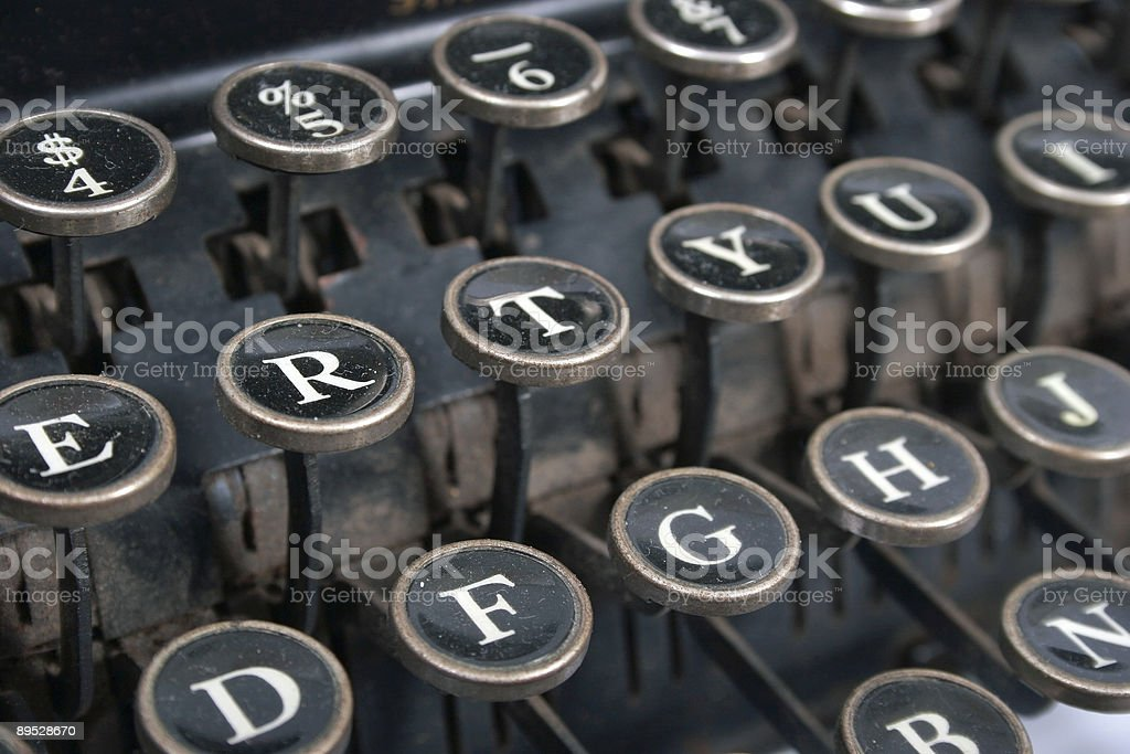 Typewriter keyboard royalty-free stock photo