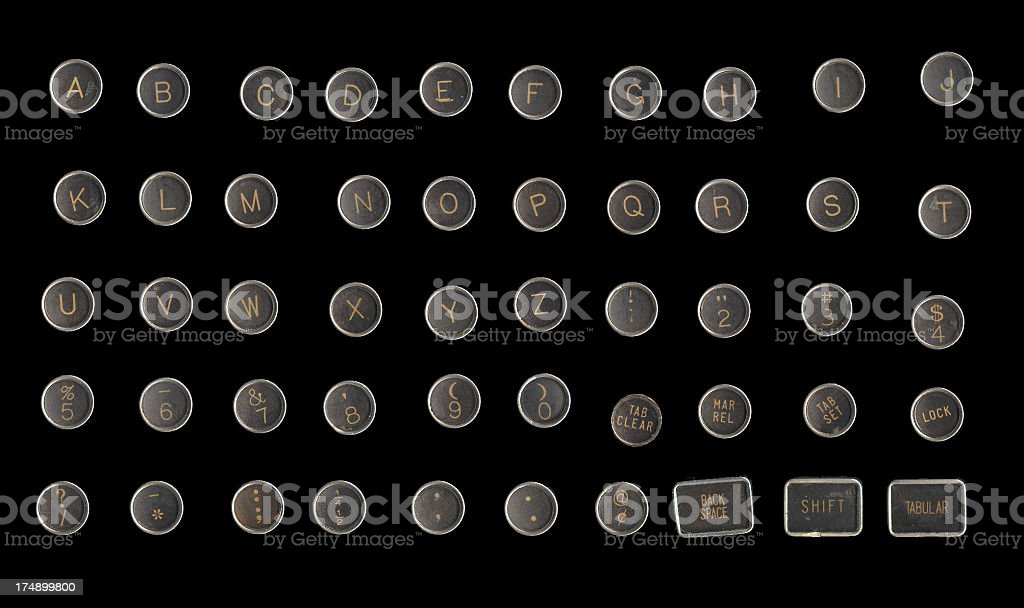 Typewriter Keys - Grunge stock photo