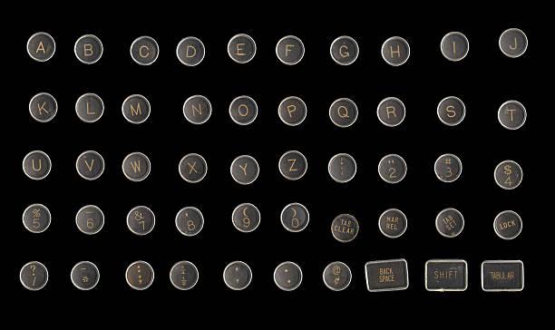 Typewriter Keys - Grunge stock photo