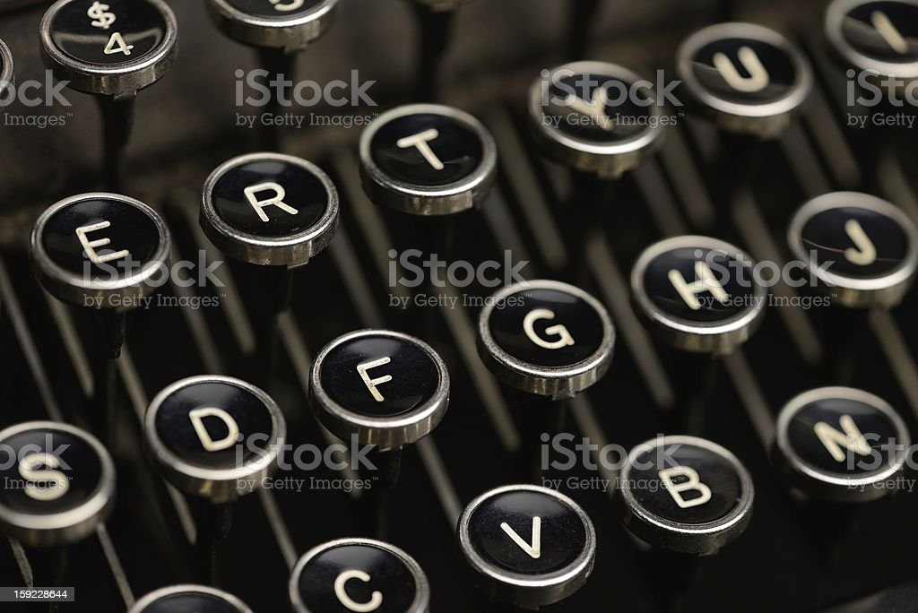 Typewriter keys stock photo