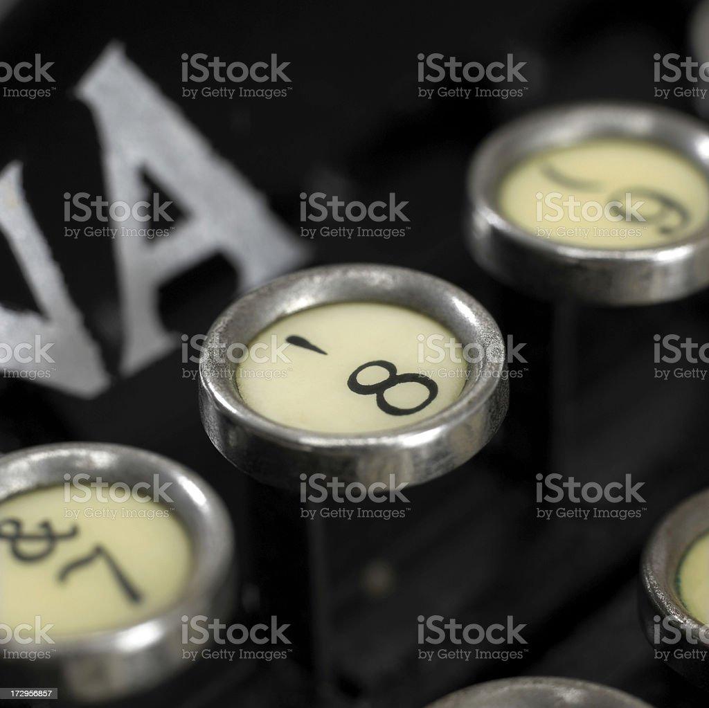 Schreibmaschine Schlüssel Lizenzfreies stock-foto