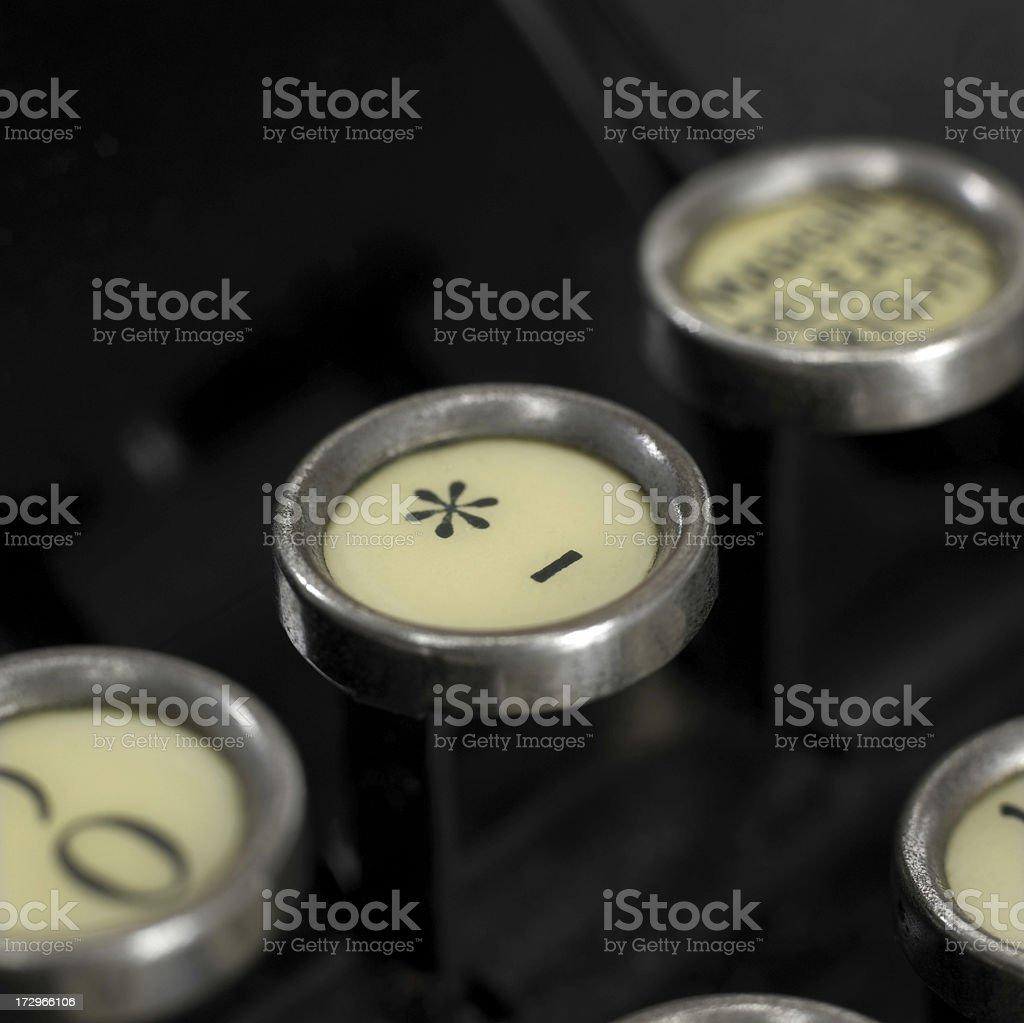 Tasti di macchina da scrivere - foto stock