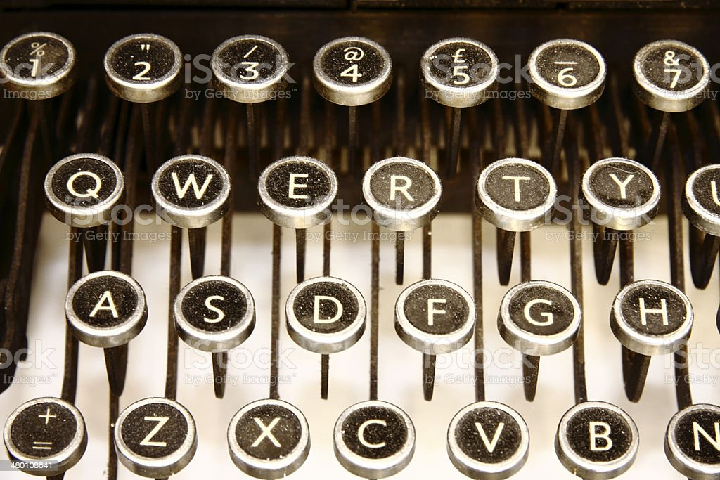 QWERTY Typewriter Keys royalty-free stock photo