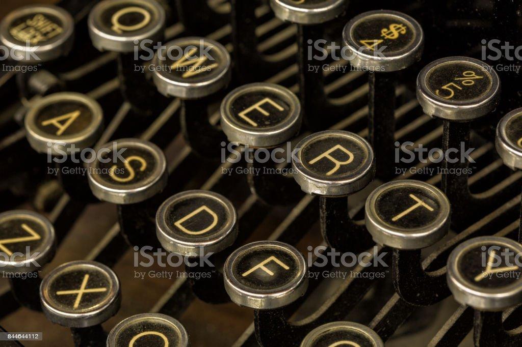 Typewriter Keys stock photo