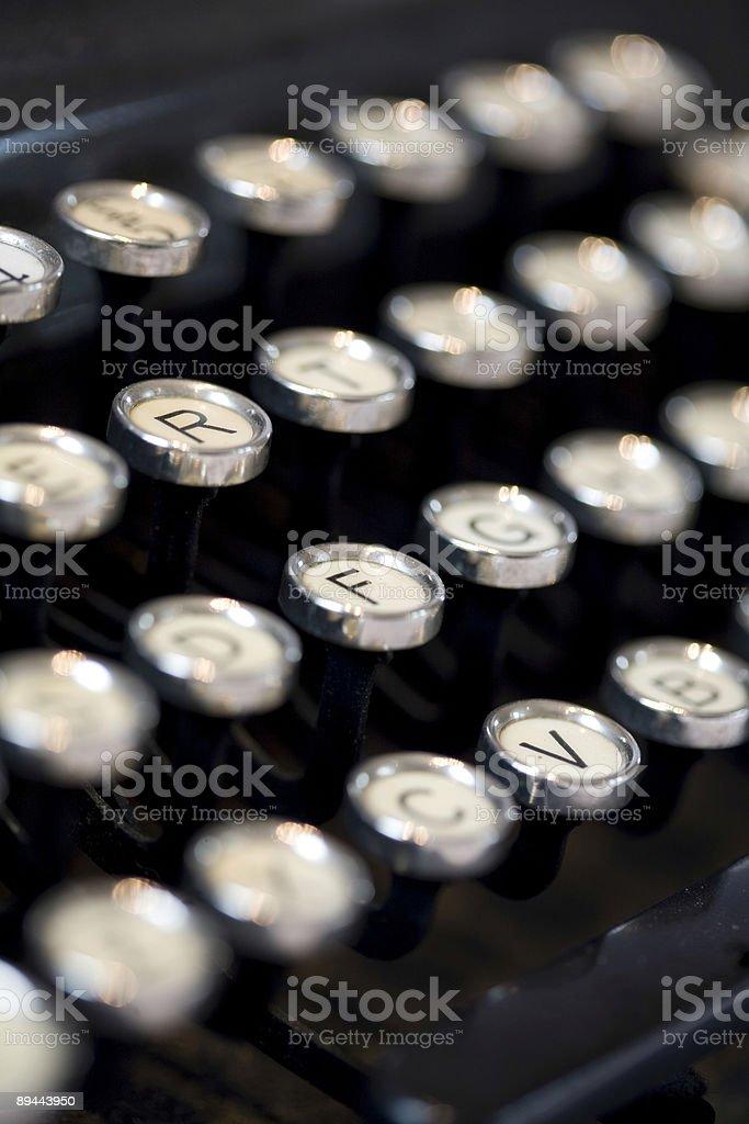 Typewriter letter keys royalty-free stock photo