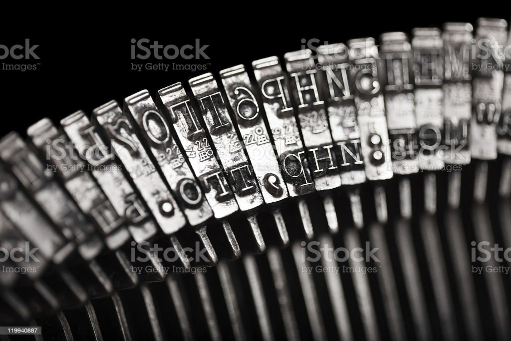 Typewriter letter typebar stock photo