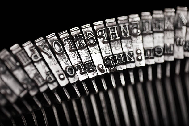 Typewriter letter typebar stock photo