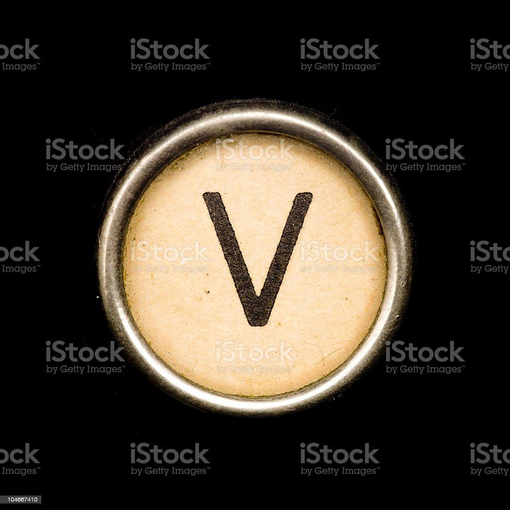 Máquina de escribir una carta V - foto de stock