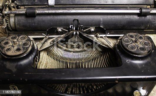 istock Typewriter machine 1182280150