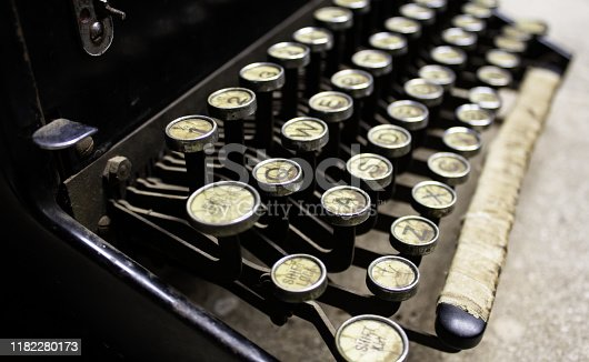 istock Typewriter machine 1182280173