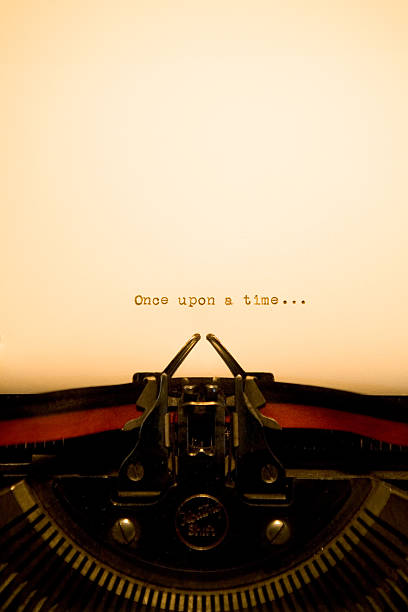 Typewriter - Once Upon A Time stock photo