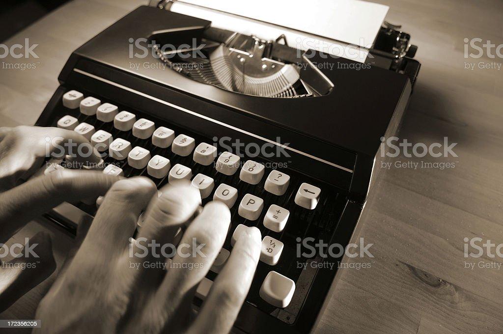 Serie de máquina de escribir foto de stock libre de derechos
