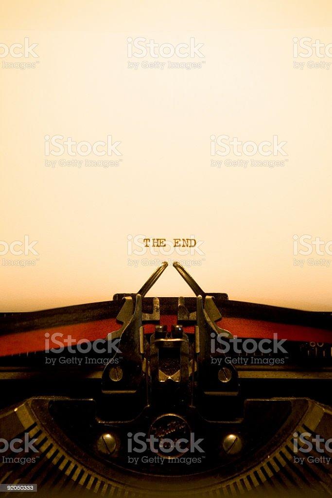 Typewriter - The End royalty-free stock photo
