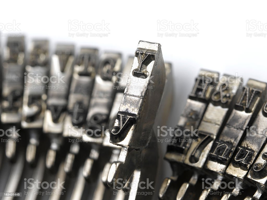 typewriter type royalty-free stock photo