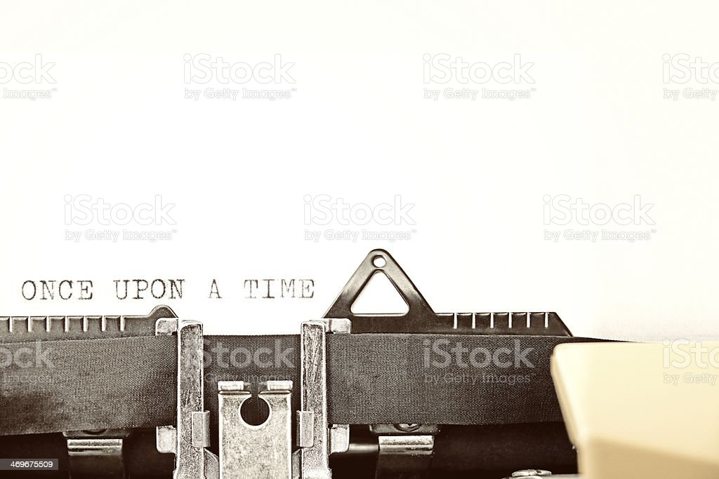 Typewriter typing out ONCE UPON A TIME royalty-free stock photo
