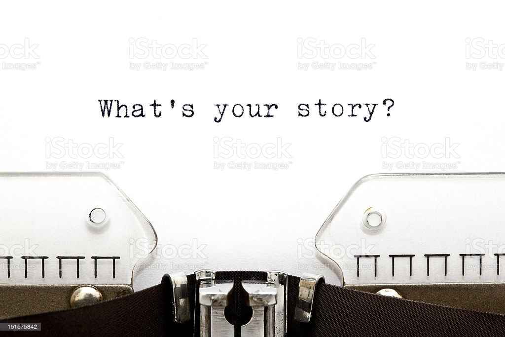 Typewriter What is Your Story stock photo