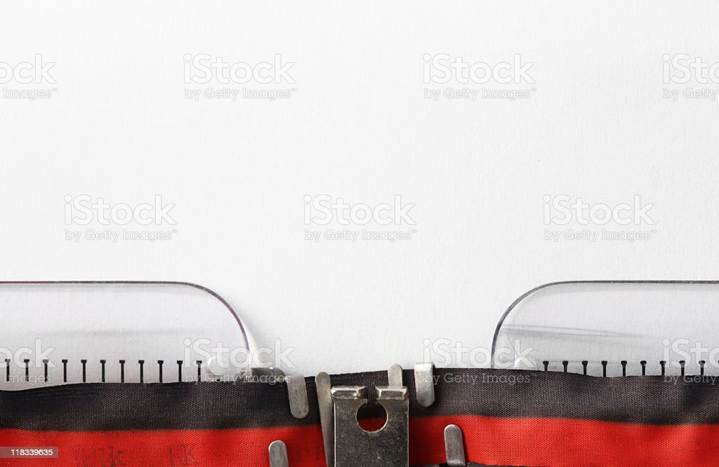 Typewriter with Paper royalty-free stock photo