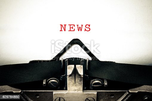 istock Typewritter with the word news 629784850
