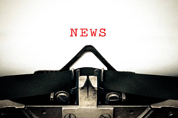 Typewritter with the word news - Photo