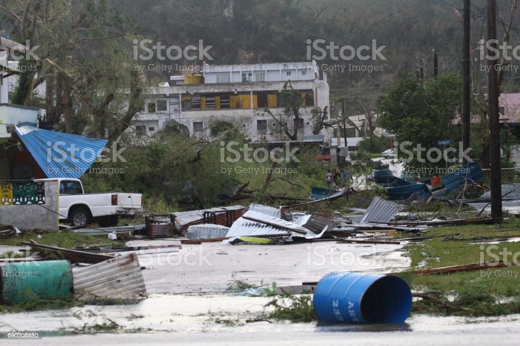 Typhoon Soudelor aftermath, Saipan stock photo